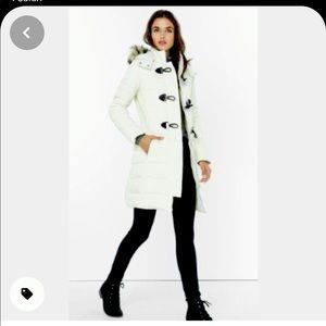 Express long down filled puffer winter coat